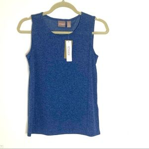 NWT Chico's Sleeveless Blue Scoop Layering Shell